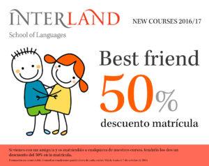 Lee más sobre el artículo 50% descuento en la matrícula si vienes a Interland con un amigo