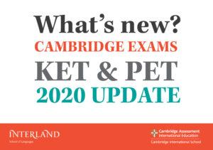 Lee más sobre el artículo CAMBIOS EN LOS EXÁMENES DE CAMBRIDGE KET Y PET 2020